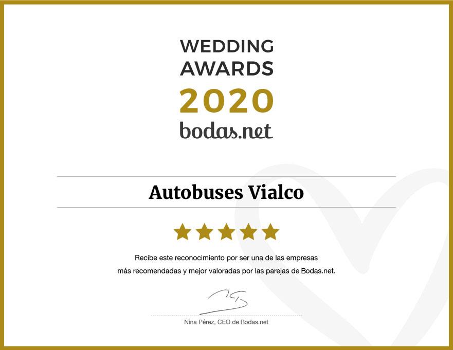 Autobuses Vialco, ganador Wedding Awards 2020 Bodas.net